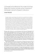 Converged and professional: the model of archive, library and museum services at the University of Edinburgh's Centre for Research Collections