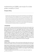 Implementing an EDRMS: case study of a nuclear power company in China