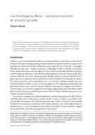 L'archivistique au Maroc : naissance, évolution et situation actuelle
