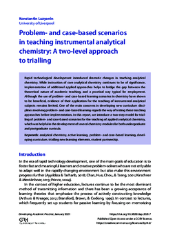 Problem- and case-based scenarios in teaching instrumental analytical chemistry: A two-level approach to trialling
