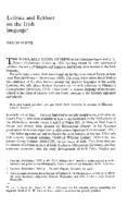 Leibniz and Eckhart on the Irish language*