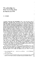 The authorship of a letter received by Tone in America in 1795
