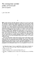 The Contemporary and later politics of Caoineadh Airt Uí Laoire