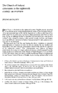 The Church of Ireland episcopate in the eighteenth century: an overview