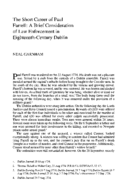 The Short Career of Paul Farrell: A Brief Consideration of Law Enforcement in Eighteenth-Century Dublin