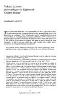Voltaire's Lettres philosophiques in Eighteenth-Century Ireland