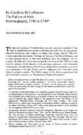 Ex Conflictu Et Collisione: The Failure of Irish Historiography, 1745 to 1790*
