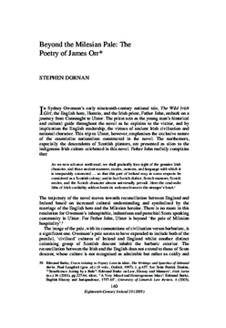 Beyond the Milesian Pale: The Poetry of James Orr