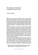 The continuity of disaffection in eighteenth-century Ireland