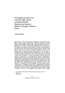 The English governess, her wild Irish pupil, and her wandering daughter: Migration and maternal absence in Georgian children's fiction