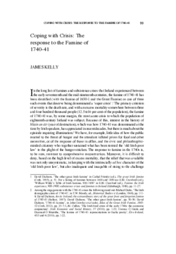 Coping with Crisis: The response to the Famine of 1740-41