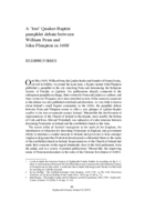 A 'lost' Quaker-Baptist pamphlet debate between William Penn and John Plimpton in 16981