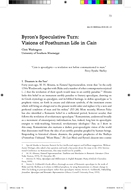 Byron's Speculative Turn: Visions of Posthuman Life in Cain