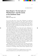 "Eliza Knipe's ""On the Lake of Windermere"" and the Limits of the Aesthetic Gaze"