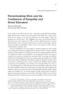 Perambulating Mice and the Confluence of Sympathy and Moral Education