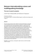 Between internationalising science and multilingualising knowledge