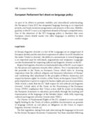 European Parliament fact sheet on language policy