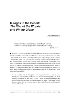 Mirages in the Desert: The War of the Worlds and Fin du Globe