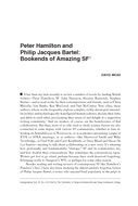 Peter Hamilton and Philip Jacques Bartel: Bookends of Amazing SF