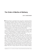 The Order of Martha of Bethany