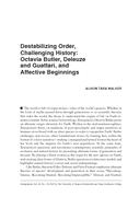 Destabilizing Order, Challenging History: Octavia Butler, Deleuze and Guattari, and Affective Beginnings