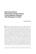 Becoming Heroic: Alternative Female Heroes in Suzy McKee Charnas' The Conqueror's Child