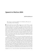 Speech to WisCon 2004