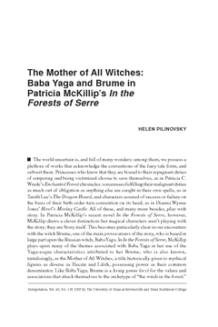 The Mother of All Witches: Baba Yaga and Brume in Patricia McKillip's In the Forests of Serre