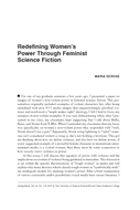 Redefining Women's Power Through Feminist Science Fiction