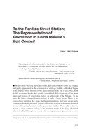 To the Perdido Street Station: The Representation of Revolution in China Miéville's Iron Council