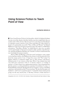 Using Science Fiction to Teach Point of View