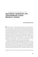 Apocalypse, Apotheosis, and Transcendence in Rosa Montero's Temblor