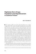 Rightwise Born Kings: Feudalism and Republicanism in Science Fiction