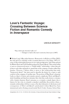 Love's Fantastic Voyage: Crossing Between Science Fiction and Romantic Comedy in Innerspace