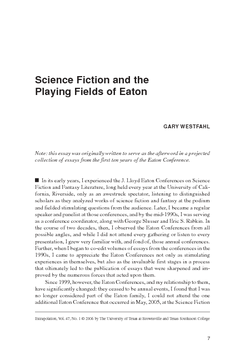 Science Fiction and the Playing Fields of Eaton