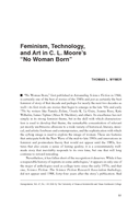 """Feminism, Technology, and Art in C. L. Moore's """"No Woman Born"""""""