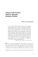 Freud in the Future: Work in German Science Fiction