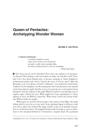 Queen of Pentacles: Archetyping Wonder Woman