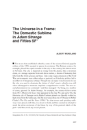 The Universe in a Frame: The Domestic Sublime in Adam Strange and Fifties SF