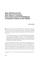 New Worlds and the New Wave in Fandom: Fan Culture and the Reshaping of Science Fiction in the Sixties