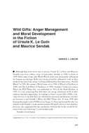 Wild Gifts: Anger Management and Moral Development in the Fiction of Ursula K. Le Guin and Maurice Sendak