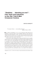 """Realities. . . blending as one!"": Film Texts and Intertexts in the Star Trek/X-Men Crossover Comics"
