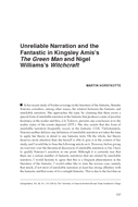 Unreliable Narration and the Fantastic in Kingsley Amis's The Green Man and Nigel Williams's Witchcraft