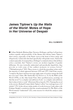 James Tiptree's Up the Walls of the World: Motes of Hope in Her Universe of Despair