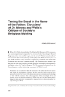 Taming the Beast in the Name of the Father: The Island of Dr. Moreau and Wells's Critique of Society's Religious Molding