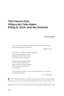 The French Dick: Villiers de l'Isle-Adam, Philip K. Dick, and the Android