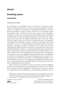 Dossier Breathing spaces