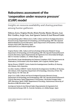 Robustness assessment of the 'cooperation under resource pressure' (CURP) model