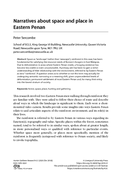 Narratives about space and place in Eastern Penan
