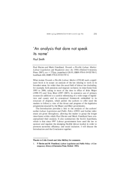'An analysis that dare not speak its name'